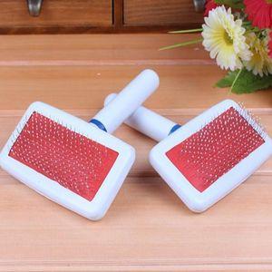 Щенок Щетка для волос Cat Стрижка собак Pet Grooming Brush Мягкая Slicker расческа для собак Quick Clean Tools YYA43