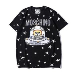 19SS Couture Milano Mos O letra de la impresión de algodón del oso de peluche de los hombres T-hombres de la camiseta de las mujeres mosos Tops Streetwear Camisetas DD8381