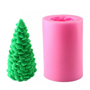 Pasta Süsleme Pişirme Aracı Yapımı DIY Mum Sabun Noel Hediyesi için ucuz Kalıplar Silikon Kalıp 3D Yılbaşı Ağacı Noel Baba Mum Kalıp