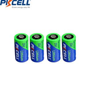 بطاريات رخيصة الابتدائية الجاف 4PCS PKCELL 3V 123A 123A ليثيوم 1500mAh خلية البطارية 123 CR17335 CR17345 16340 LiMnO2 الجافة الأولية