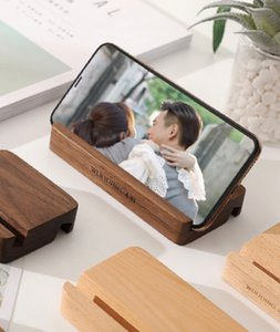 Table items walnut tablet desktop universal mobile phone holder beech solid simple brown wood black steady creativity video general