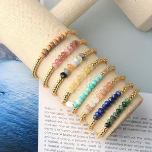 KELITCH Gold-Perlenarmband Stretch-Armband für Frauen-Charme-Korn-Strang-Armbänder Elastic-Kette Modeschmuck