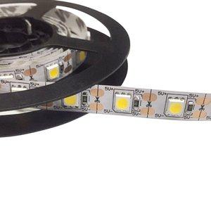 Şerit LED Şerit Işık 1M Ev Bahçe Ticari alan aydınlatması için 60 LED'ler 5050 SMD DC 5V Su geçirmez IP65 değiştirme 5v RGB Renk