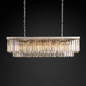 classici lampadari di cristallo a LED illuminano americani rettangolare foyer soggiorno dininglighting camera Chandelie cristallo di alta qualità