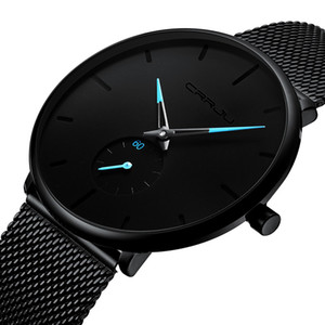 Top Brand Luxury Fashion Mens Watches Quartz Watch Men Casual Slim Mesh Steel Waterproof Sport Watch Relogio Masculino