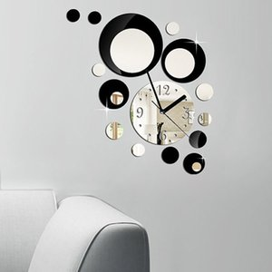 GZ019 round ball combination acrylic mirror wall clock stereo living room bedroom decoration quartz wall clock
