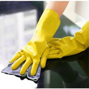 Cleaning Gloves Dish Washing Glove Rubber Housework Mittens Latex Mitten Long Kitchen Wash The Dishes Mitts