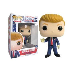 Funko Pop Donald Trump Figure del giocattolo presidente degli Stati Uniti 2020 marca bambola da collezione Modello nuove figure giocattoli di azione rendere l'America Great Again Slogan