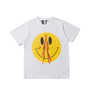 Vlone camiseta casual de alta calidad estilista hombres de las mujeres T Shirts Vlone Hip Hop manga corta