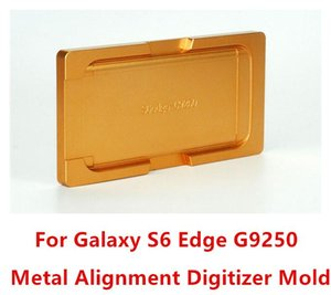 For Samsung Galaxy S6 Edge G9250 LCD Front Outer Glass Digitizer Metal Alignment Mould Molds 1pcs lot free shipping