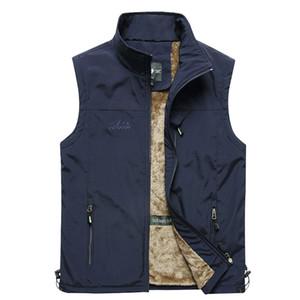 Automne Hiver 2020 plus récent hommes manteau chaud manches Veste Hommes Casual Veste Manteau Polaire Army Green Taille 4XL Big Waistcoat