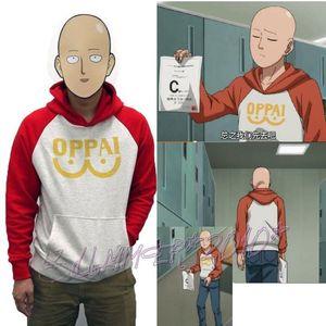 NOUVEAU Anime One Punch homme Saitama Oppai Sweat à capuche Hoodie cosplay costume Nouveau
