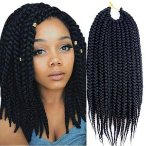 Crochet Braids 3S Soft Synthetic Hair Extensions Hairstyles 1Packs 14&#039&#03918&quot22&quot Box Braids Kanekalon Braiding Hair Style for f