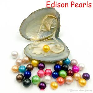 Vakum Paketleme Lüks Takı Doğum Hediye İçin Kadınlar ile 2020 DIY Tatlısu 9-12mm Edison İnci ise İstiridye 16 Renkler İnciler Oyster İnciler