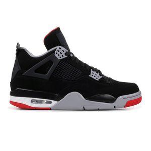 4 Bred черный красный кроссовки 4S Баскетбол обувь высокого качества 2019 версия мужчина женщины кроссовки классические кроссовки с коробкой