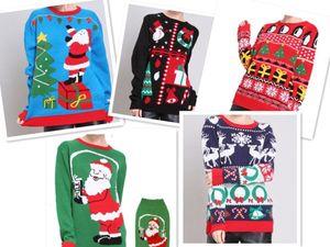 Designer mulheres Outono Inverno Xmas cervos de Santa Clus camisola camisolas feias do Natal
