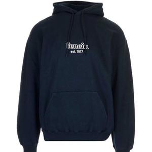 19FW LOGO Alfabeto bordado sudadera con capucha azul marino pareja casual calle al aire libre lujo hombres y mujeres sudaderas con capucha HFHLWY008