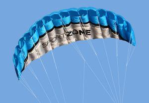 Fashion Soft-Kite Outdoor Sports 2.5m Power Soft Kite Dual Line BremsungParafoil Kite mit Griff 30m Linie Sport Fitnessgeräte