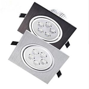 Spots LED Lampes Spot encastré carré 3W 5W lumières Dimmable vers le bas 110V 220V Éclairage Aluminium conducteur inclus