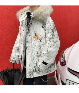 Mountain Baltoro Winter Fur Hooded Jacket Black White Camouflage Down Jackets Men Winter Feather Overcoat Jacket Warm Coats Parkas