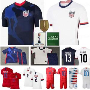 Futbol ABD Jersey Milli Takım Deandre Yedlin Jersey Hıristiyan PULİSİC BRADLEY ZARDES GONZALEZ MORRİS ABD Amerikan Futbol gömlek Donanma beyaz