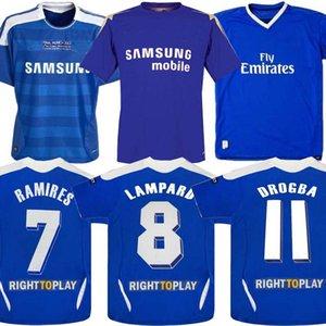 05 06 2011 Retro maglia da calcio Lampard Torres Drogba 11 12 finale Terry David Luiz MATA Football Shirts Camiseta Shevchenko Hasselbaink