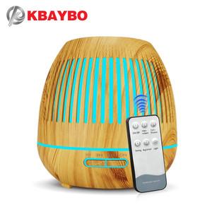 400ML Ультразвуковой увлажнитель воздуха Аромат Эфирное масло Диффузор с Wood Grain 7 Изменение цвета светодиодные фонари для Office для дома