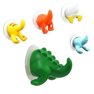 Animal bonito dos desenhos animados otário Rabo de sucção Gancho bebê toalha de banho Cabide Titular da chave Hooks decorativa