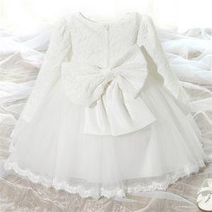 Mon bébé 1ère première anniversaire robes pour filles baptême baptême rose princesse tutu robe formelle robe de bal de balle en bas âge vestido 0 2T