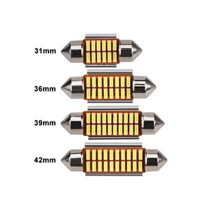 8x C5W Автомобильная Светодиодная Лампа Canbus Внутреннего Света 12 В Гирлянда LED Супер Яркий Авто Номерного Знака Чтения Багажника Лампы Белый 36 мм