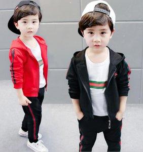 HOT costume d 'enfant enfants Manteau T chemise pantalon 3Ps Set New School Automne Adolescent Sport Costumes Uniforme