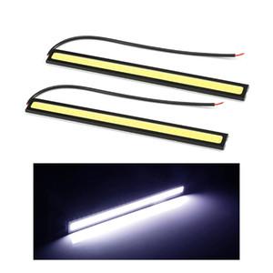 10pc COB LED DRL Bar Car Styling Ultra Esecuzione luminosa 12W LED Daytime spia di CC 12V 17 centimetri DRL impermeabile Auto Car DRL COB guida della nebbia