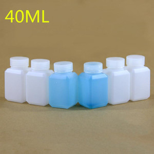 100PCS / Lot bottiglie quadrate di plastica 40ML liquidi, Lozione contenitori cosmetici con vite coperchio Food Grade HDPE Bottiglia