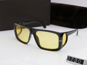 Novo designer marca de moda Sunglasses 0730 moldura quadrada tendência estilo avant-garde para equipa e mulheres de qualidade superior vendendo uv400 eyewear nobre