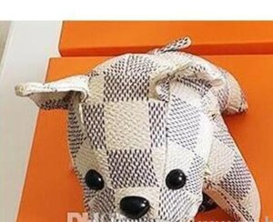 Correntes PU Leather Dog Keychain Bolsa buldogue pingente Marca Bolsa Car Key Rings presentes Mulheres Chains Men liga NOVO Chaveiros nenhuma caixa