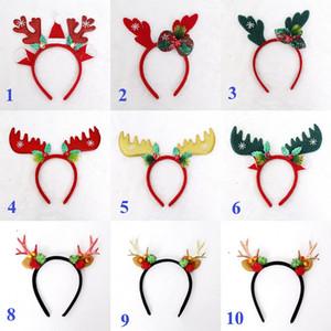 Noel Bow Kafa Geyik Elk Boynuz Noel Hediye Şapka kar tanesi Cosplay Parti Saç Aksesuarları Başkanı Band Sticks
