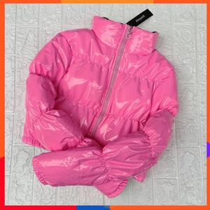 Осень Winter2019 AtxyxtA Bubble Puffer Jacket пальто зимы женщин Lime Зеленый Розовый Желтый Красный Blackfashion