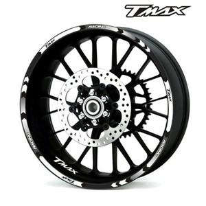 جديدة ذات جودة عالية 12 قطعة صالح ملصق عجلة دراجة نارية شريط عاكس ريم لياماها TMAX 500 530