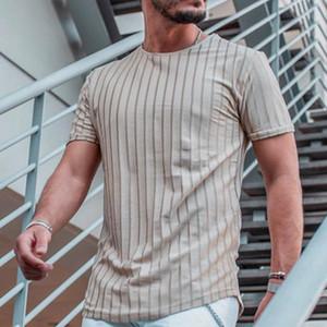 Mens Designer T-shirts manches courtes rayé Imprimer ras du cou Slim T-shirts Pull d'été mixtes Couleur des vêtements décontractés