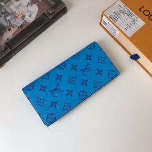la moda 2020 moneda de la tarjeta del bolso del pasaporte hombres y mujeres populares bolsa de largo carpeta de la PU tendencia de diseño de lujo muestran gran capacidad de la pequeña figura