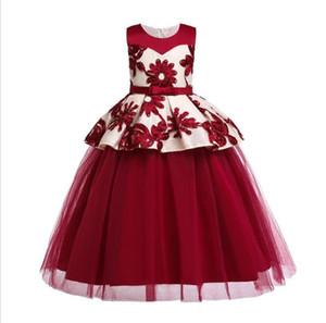 HYC108 neue Art und Weise 2020 Blumenmädchenkleider Kinder Frocks Designs Mädchen-Prinzessin Pageant Kleider