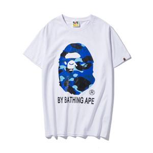 19ss мужские дизайнерские футболки вышивка Обезьянья голова купальная футболка обезьяна сплошной цвет пуловер короткие хлопчатобумажные рубашки dolce vetements для лета