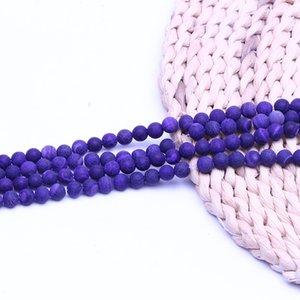 Lila retro achat perlen stein naturstein perlenhersteller 15 zoll strang pro satz für schmuck diy