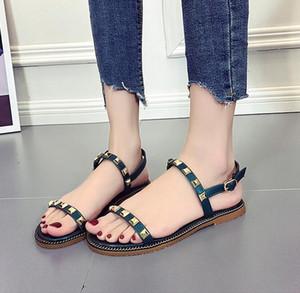 2019 neue europa sommer sandalen sexy niet knöchelriemen frau rutschfeste flache schuhe frauen rom flache strand sandalen