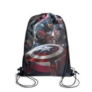 Zaino Cintura Captain America Il primo vendicatore 1 Moda Sport, modello disegno adatto per War Bonds Stampa Poster Collection America.