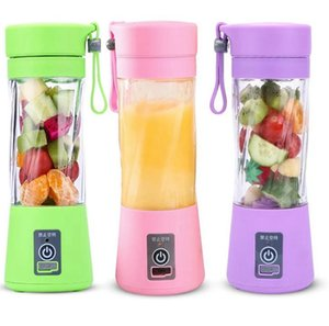 Portable Blender MINI USB rechargeable Electric juicer Blender 380ml 2 Blades Fruit Juicer Maker Blender Sports Juicing Cup KKA7873