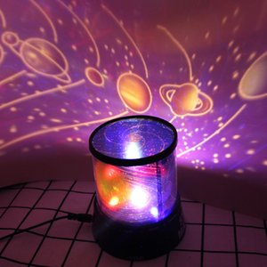Home Furnishing Dragon spaceship Yiren in the starry sky LED Projector Seven colors Night light Sleep peacefully Originalit