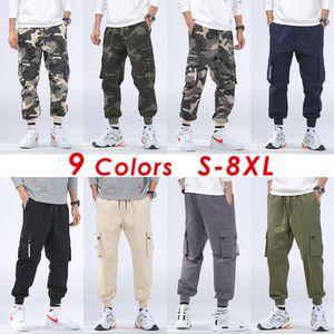 8XL Hommes Automne Casual streetwear Militaire Camo Cargo Pants Pantalons Hommes Outfit Hiver Hip Hop Camouflage Coton Poche Pantalon Hommes Polaire Chaud