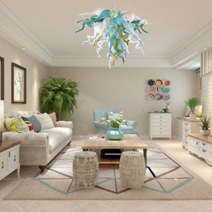 fabrika doğrudan% 100 el yapımı üfleme Murano cam avize çağdaş oturma odası yatak odası ev dekorasyon led kolye ışıkları