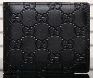 Presentes Carteira Vender Hot Black Fashion Carta Folding bolsa carteira clássico curto para Homens Mulheres Designers sup Preto Carteiras Bolsas